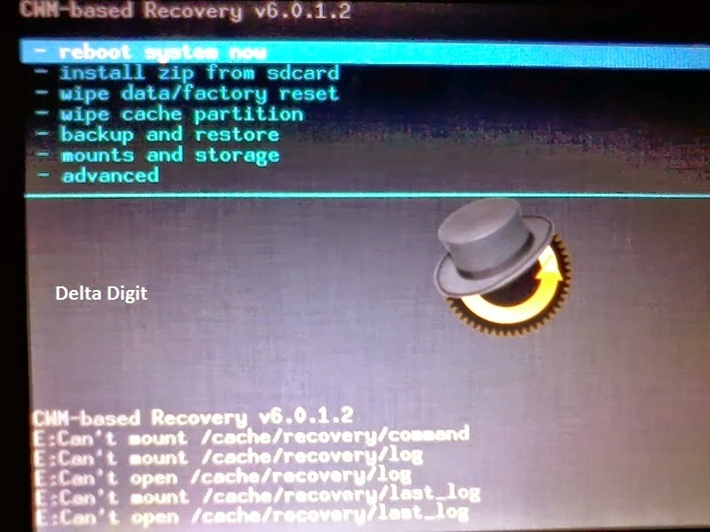 Clockwork Recovery screen loop