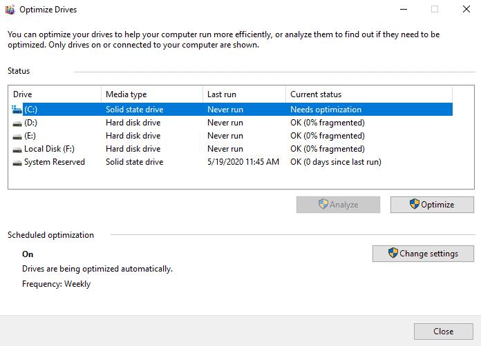 Drive Optimization and Defragmentation in Microsoft Windows